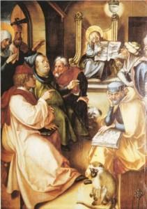 12-year old Jesus in the Temple - Albrecht Durer (1497)