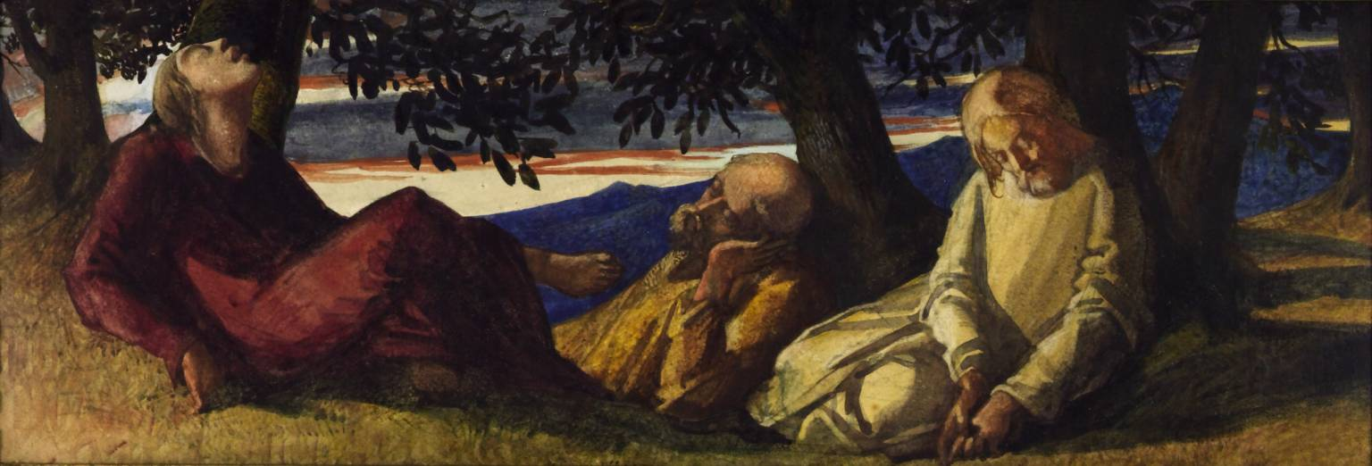Sleeping Disciples null by Louisa Anne, Marchioness of Waterford 1818-1891