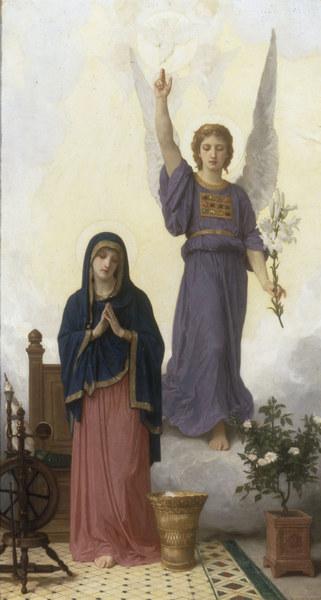 W.A.Bouguereau, Verkuendigung - W.Bouguereau, The Annunciation'. - Bouguereau, William Adolphe , 1825-1905.